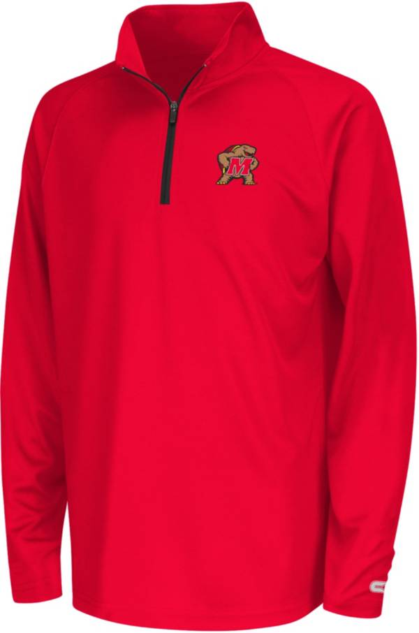 Colosseum Youth Maryland Terrapins Red Draft Performance Quarter-Zip product image