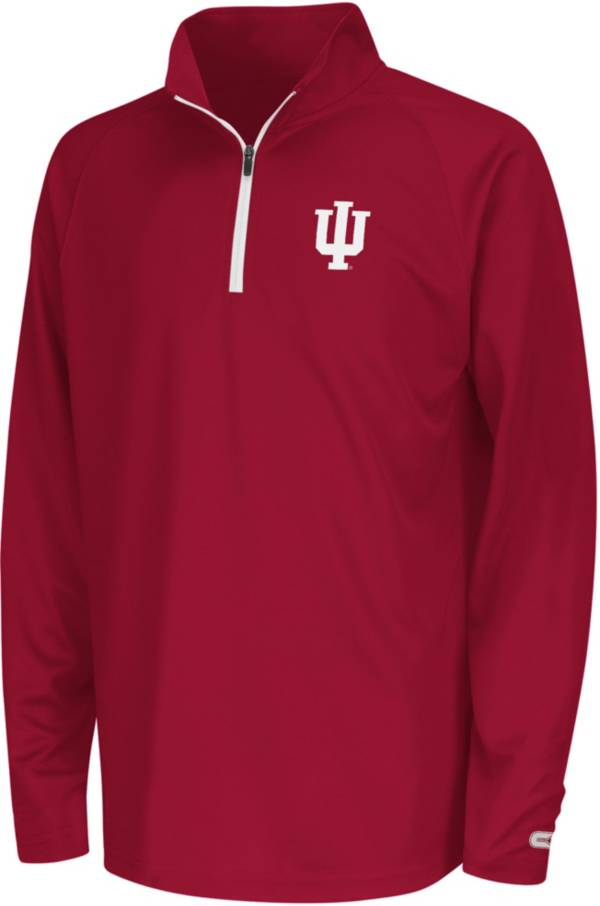 Colosseum Youth Indiana Hoosiers Crimson Draft Performance Quarter-Zip product image