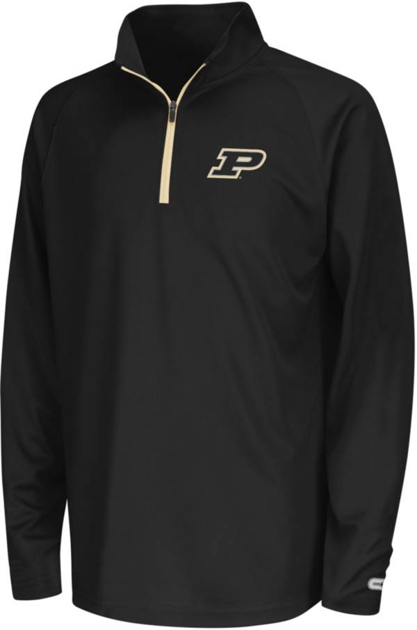 Colosseum Youth Purdue Boilermakers Black Draft Performance Quarter-Zip product image