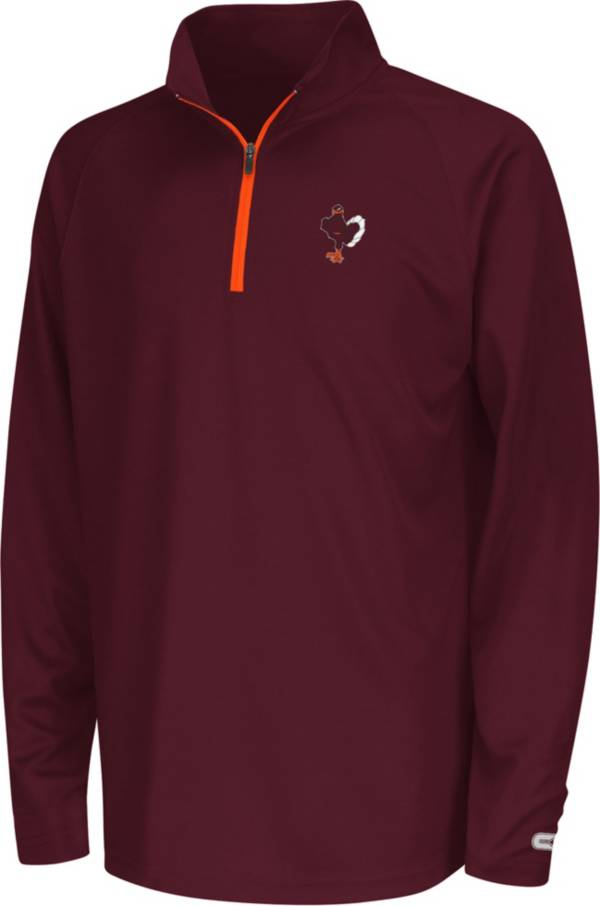 Colosseum Youth Virginia Tech Hokies Maroon Draft Performance Quarter-Zip product image
