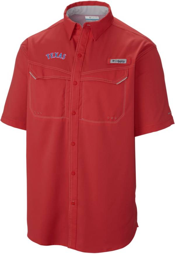 Columbia Men's Texas Rangers Low Drag Offshore Performance Short Sleeve Button Down Shirt product image