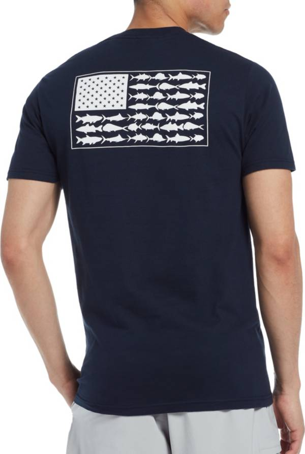 Columbia Men's PFG Americana Saltwater Fish Flag T-Shirt product image
