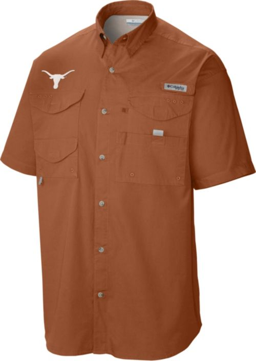 ba7130a0e Columbia Men s Texas Longhorns Burnt Orange Tamiami Performance Shirt.  noImageFound. Previous