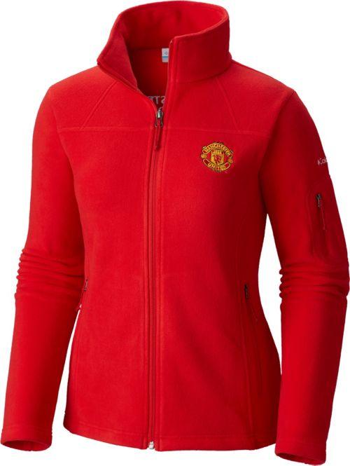 aa829f2d Columbia Women's Manchester United Fast Trek II Full Zip Red Fleece Jacket.  noImageFound. Previous
