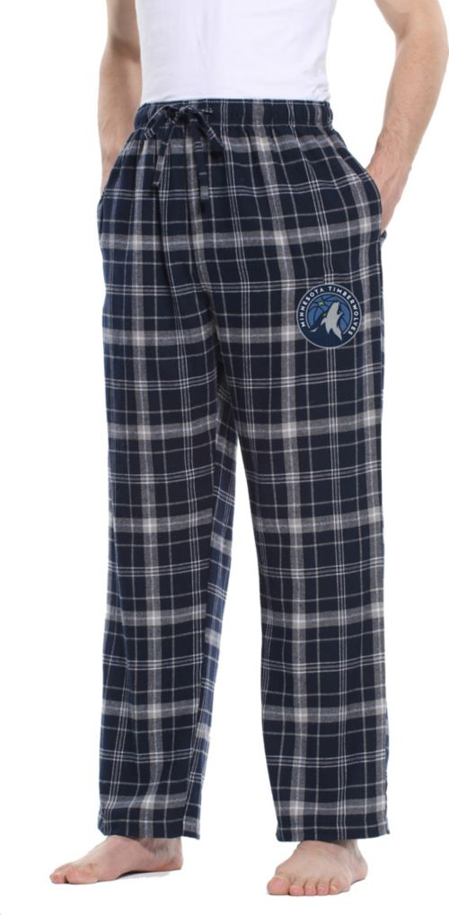 Concepts Sport Men S Minnesota Timberwolves Plaid Flannel Pajama