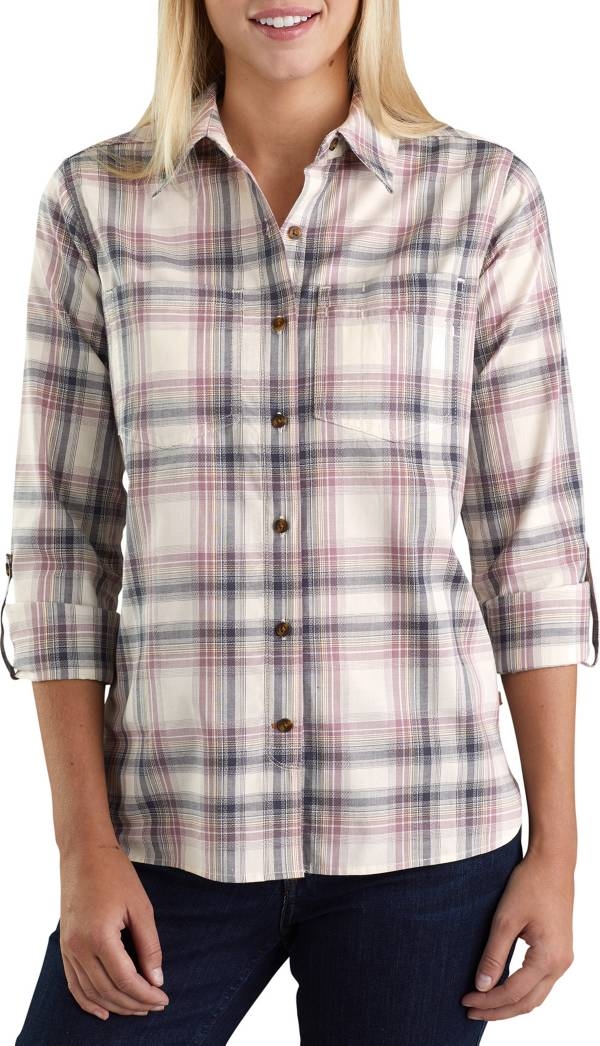 Carhartt Women's Fairview Plaid Woven Long Sleeve Shirt product image