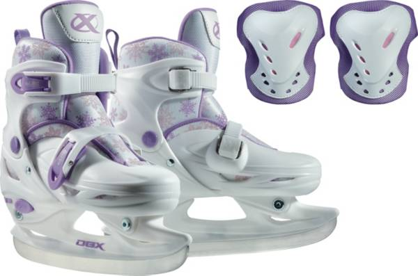 DBX Girls' Adjustable Ice Skates Package product image