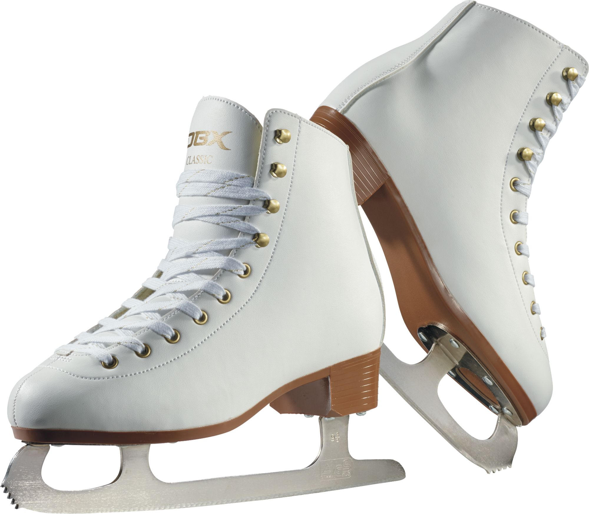 American Athletic Shoe Girls Leather Lined Figure Skates White