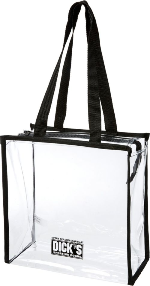 DICK S Sporting Goods Clear Stadium Zipper Tote  775869b7ba17b