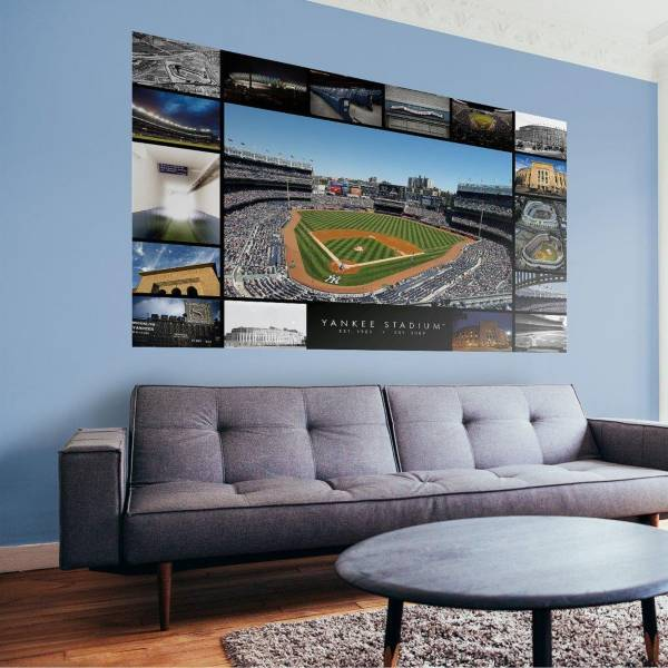 Fathead New York Yankees Then & Now Stadium Mural Wall Decal product image