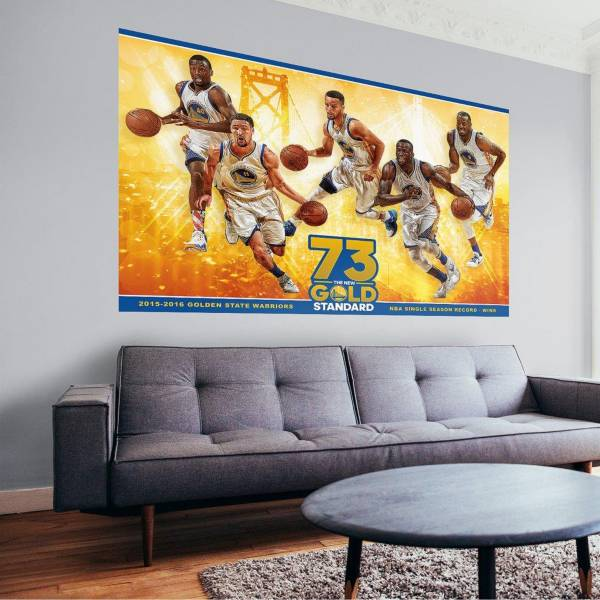 Fathead Golden State Warriors 2016 Wins Record Wall Decal product image