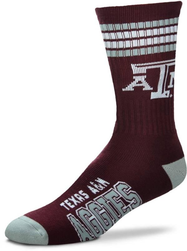 For Bare Feet Texas A&M Aggies 4-Stripe Deuce Crew Socks product image