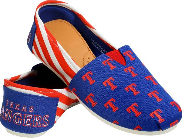FOCO Texas Rangers Striped Canvas Shoes product image