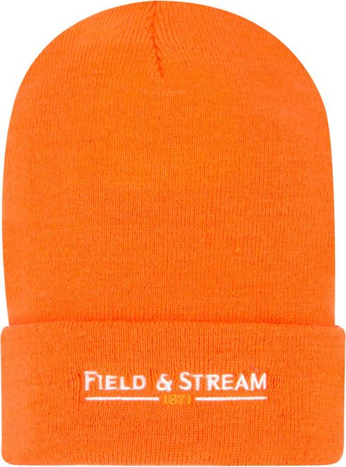 Field   Stream Men s Blaze Orange Hunting Beanie  47e39a2094a