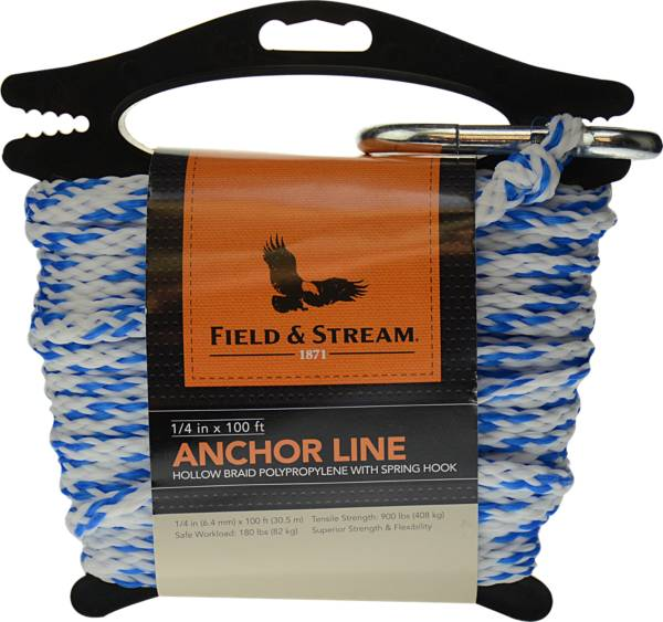 Field & Stream Hollow Braid Polypropylene Anchor Line with Spring Hook product image