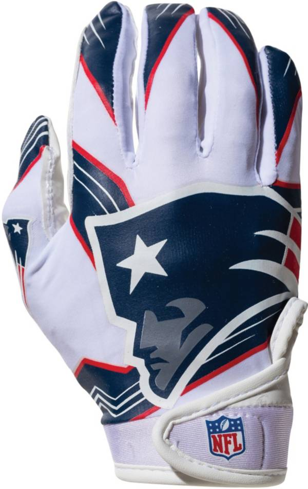 Franklin Youth New England Patriots Team Logo Receiver Gloves product image