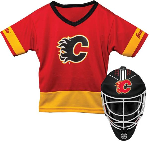 Franklin Calgary Flames Goalie Uniform Costume Set product image
