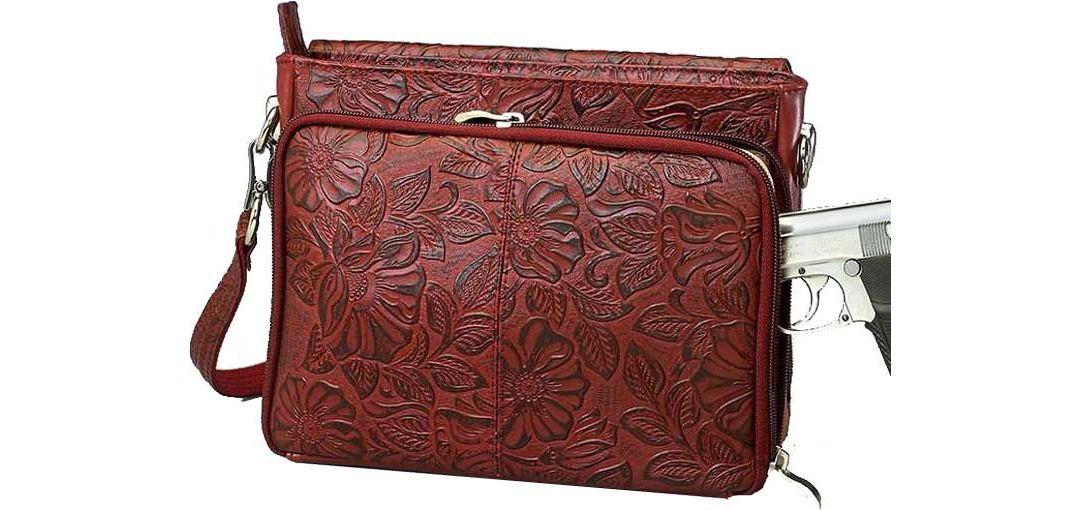 a400237bfdb Gun Tote'n Mamas Tooled American Cowhide Concealed Carry Handbag