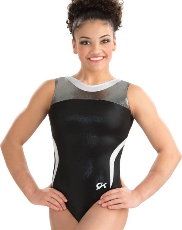 GK Elite Youth Black Tie Gymnastics Leotard product image