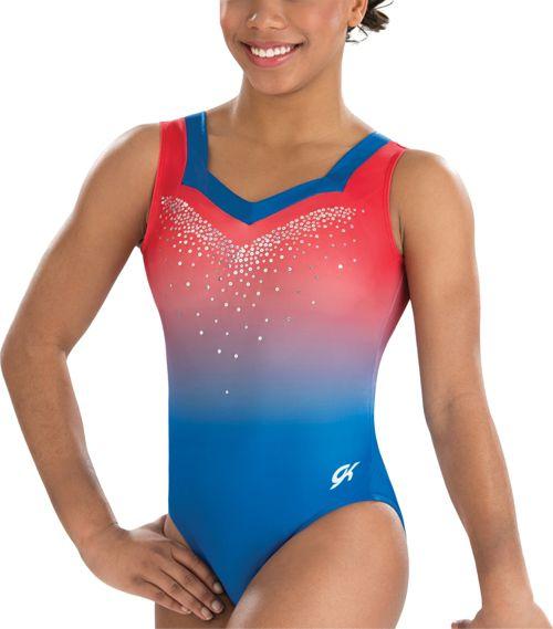 aa392f075 GK Elite Youth Lady Liberty Gymnastics Tank Leotard. noImageFound. Previous