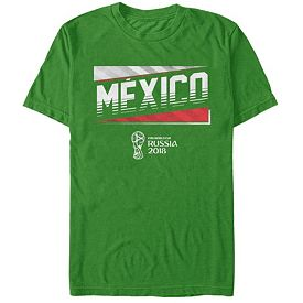 367a089d9 Fifth Sun Men's FIFA 2018 World Cup Russia Mexico Slanted Green T-Shirt