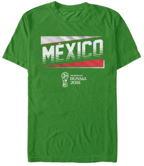 285986a22 ... FIFA 2018 World Cup Russia Mexico Slanted Green T-Shirt. noImageFound. 1