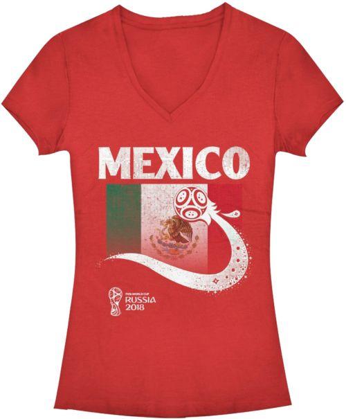 Fifth Sun Women s FIFA 2018 World Cup Russia Mexico Trophy Logo Red T-Shirt.  noImageFound. 1 bd87d0da69