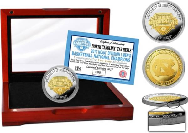 Highland Mint North Carolina Tar Heels 2017 NCAA Men's Basketball National Champions Two-Tone Coin product image