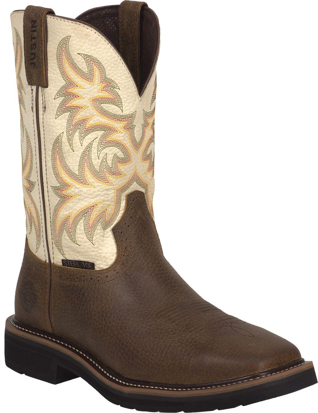 d07bf7b884b77 Justin Men's Copper Kettle Stampede Steel Toe Work Boots. noImageFound. 1