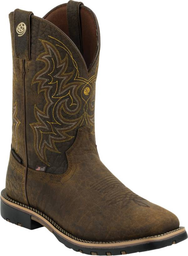 Justin Boots Men's George Strait Weathered Bark Western Boots product image