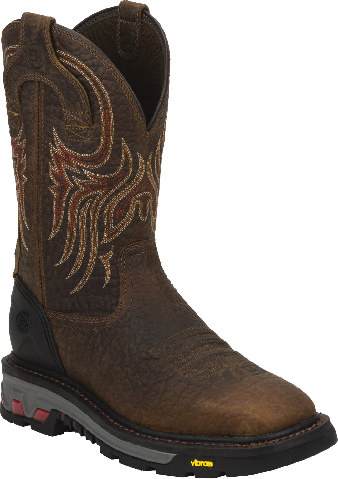7cc8f6caf47 Justin Men's Pull-On Commander X-5 Square Toe Work Boots