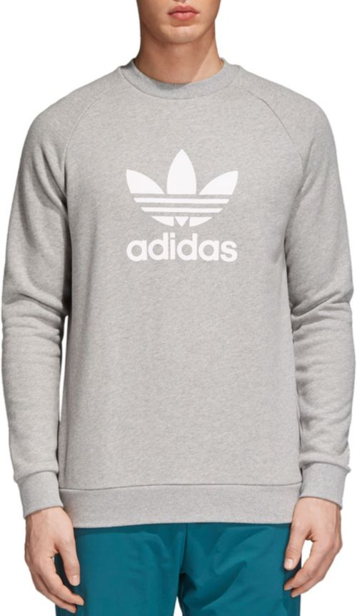 adidas Originals Men s Trefoil Crewneck Sweatshirt  a74d413335381