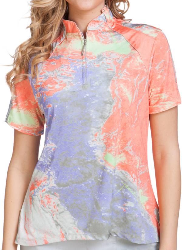 Jamie Sadock Women's 1/4 Zip Short Sleeve Golf Top product image
