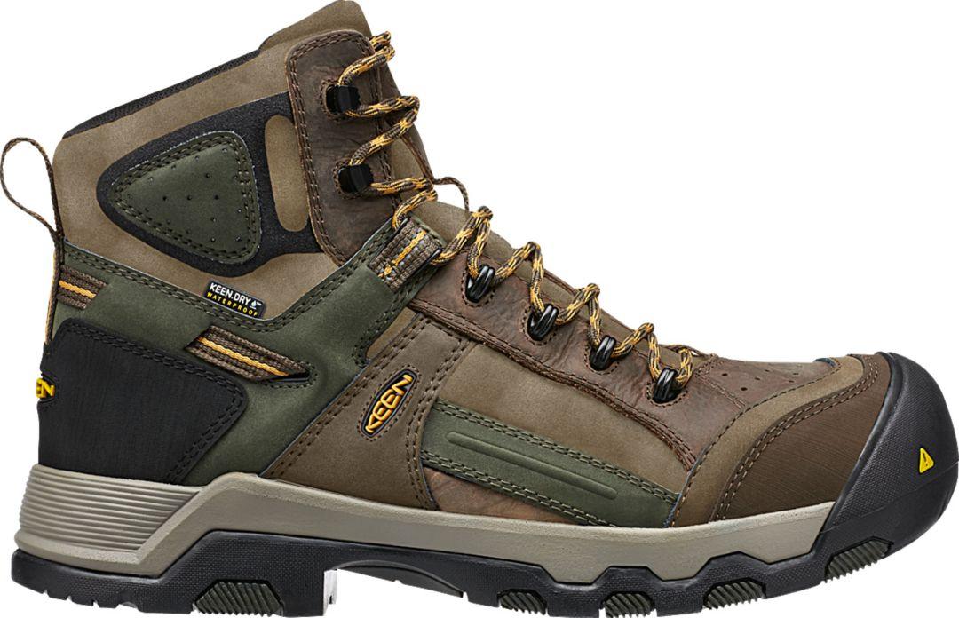 35e96b6c545 KEEN Men's Davenport Mid AL Waterproof Composite Toe Work Boots