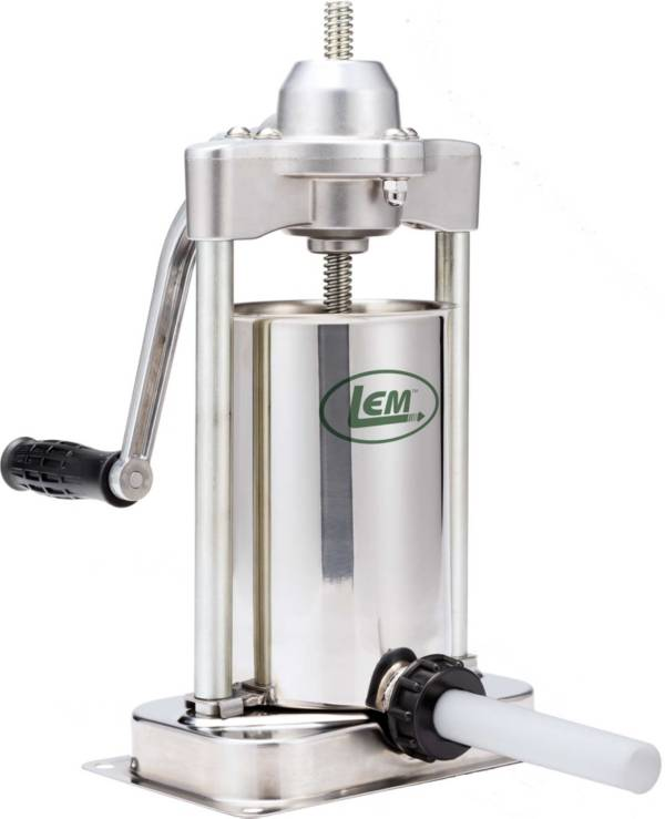 LEM Mighty Bite 5 lb. Stainless Steel Vertical Sausage Stuffer product image