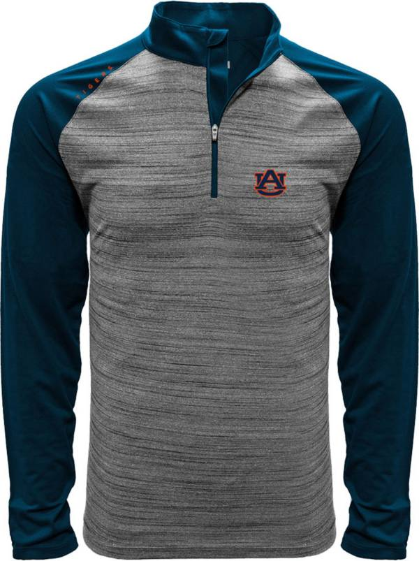 Levelwear Men's Auburn Tigers Grey Vandal Quarter-Zip Shirt product image