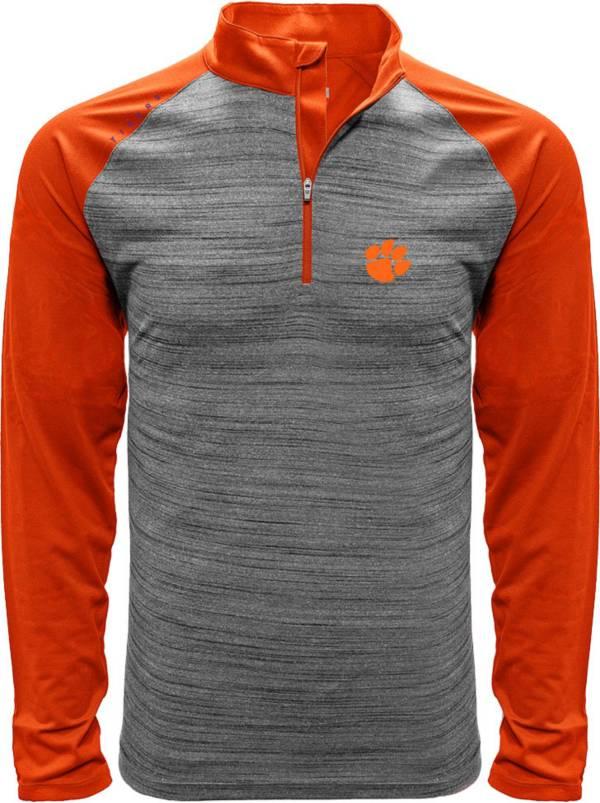 Levelwear Men's Clemson Tigers Grey Vandal Quarter-Zip Shirt product image
