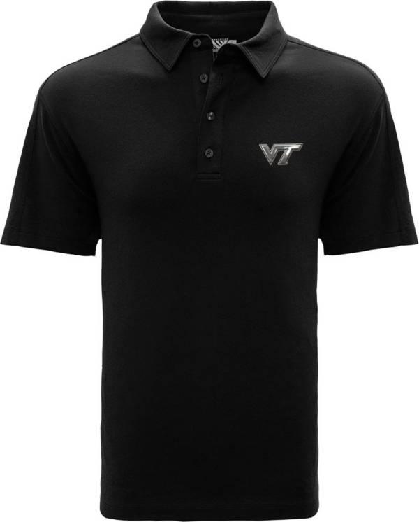 Levelwear Men's Virginia Tech Hokies Black Reign Polo product image