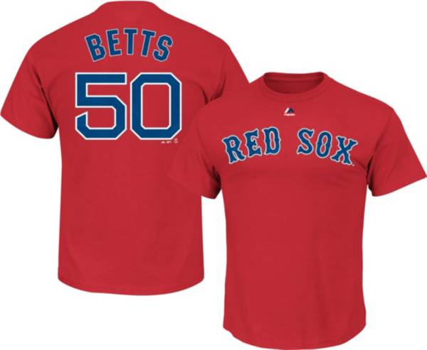 Majestic Boys' Boston Red Sox Mookie Betts #50 Red T-Shirt product image