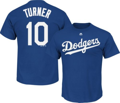 Majestic Men s Los Angeles Dodgers Justin Turner  10 Royal T-Shirt 15eb107dac9