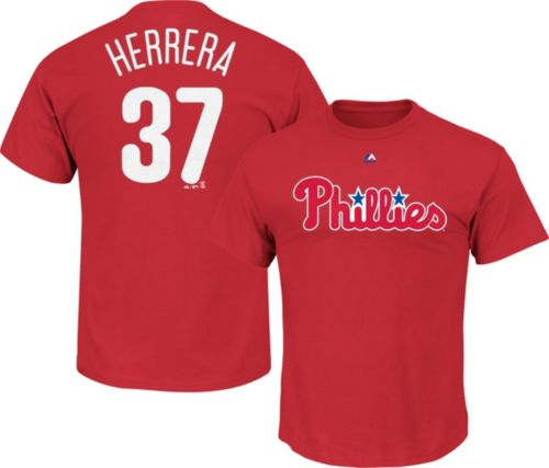 5985deaa3ad Majestic Men s Philadelphia Phillies Odubel Herrera  37 Red T-Shirt ...