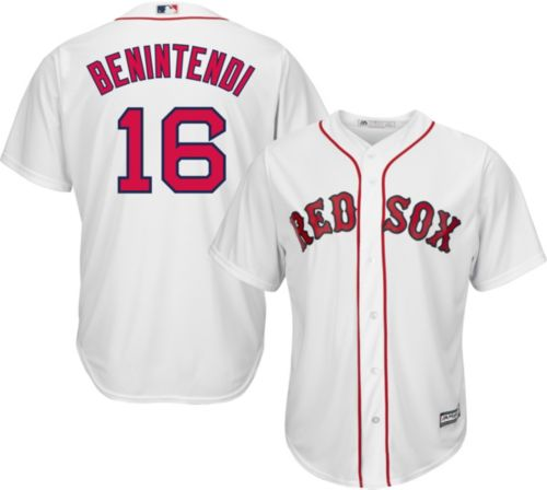 f70ce927b Majestic Men s Replica Boston Red Sox Andrew Benintendi  16 Cool Base Home  White Jersey