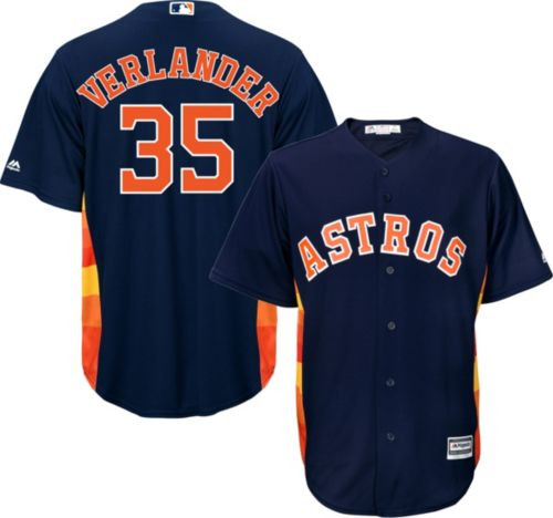 9544ee60d Majestic Men s Replica Houston Astros Justin Verlander  35 Cool Base ...