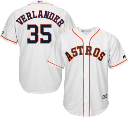 144bd692d Majestic Men s Replica Houston Astros Justin Verlander  35 Cool Base Home  White Jersey. noImageFound. Previous