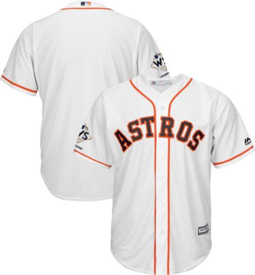 63de791e8 Majestic Men s 2017 World Series Champions Replica Houston Astros Cool Base  Home White Jersey
