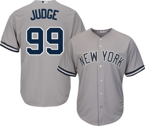d93bbd3d1e1 Majestic Men s Replica New York Yankees Aaron Judge  99 Cool Base Road Grey  Jersey. noImageFound. Previous