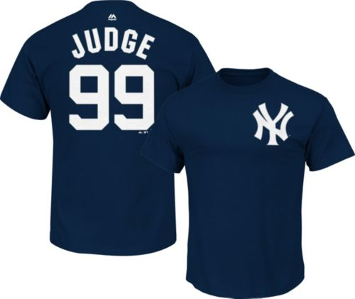 cb1203a13a8 Majestic Men s New York Yankees Aaron Judge  99 Navy T-Shirt ...