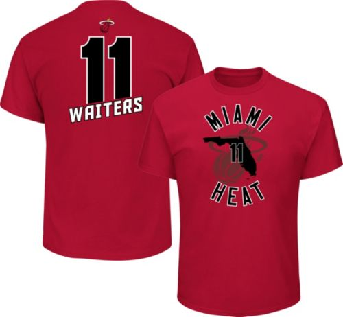 715d6f773 Majestic Men s Miami Heat Dion Waiters  11 Red T-Shirt. noImageFound.  Previous
