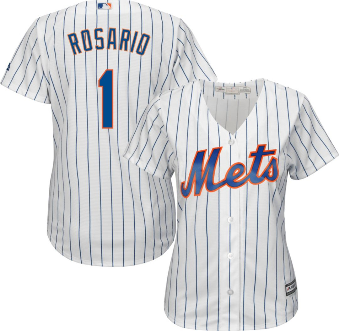 brand new c0a6b aaee6 Majestic Women's Replica New York Mets Amed Rosario #1 Cool Base Home White  Jersey