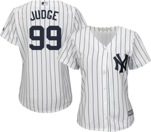 0b6df2a8ad8 Majestic Women s Replica New York Yankees Aaron Judge  99 Cool Base Home  White Jersey